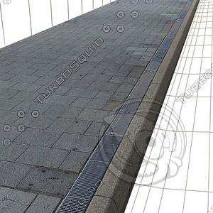 Sidewalk (square paving + grid ) Texture    High Resolution