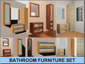 3d model bathroom furniture set