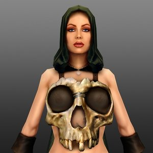 female realtime games 3d model