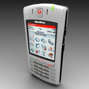free vodafone blackberry 7100v polygonal 3d model