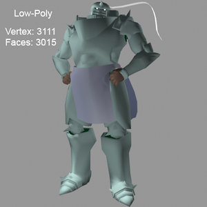 alphonse elric 3d model