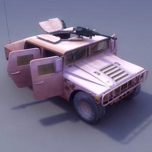 3d vehicle hmmwv military humvee