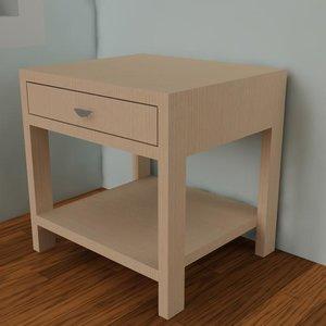 nightstand cabinet 3d model