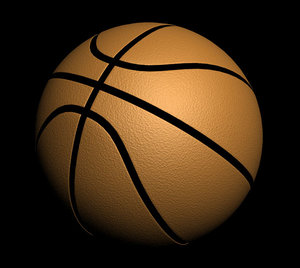 basketball basket ball 3d model