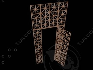 3d model of bronze gate