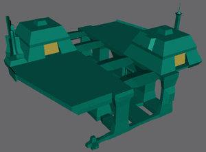 3d 3ds space station shipyard dock