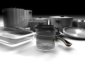 3d model cookware set