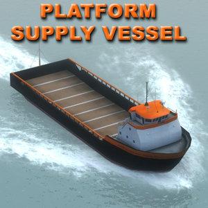 3dsmax hos platform supply vessel ship