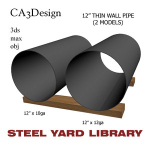 3d max 12in pipe steel