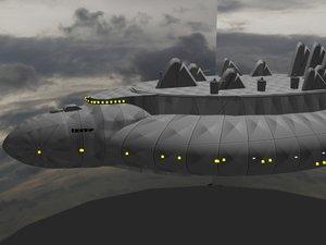 free airship 2007-1 3d model