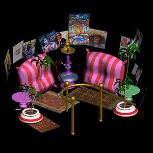 santa toon furnishings pzsg 3d pz3
