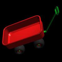 red wagon pzsg 3d model