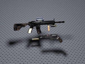 m 416 3D model