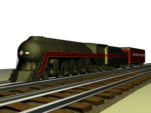 maya class j4-8-4 train engine car