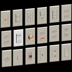 electrical device set switch 3d model