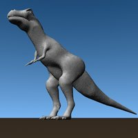 dinosaur base modelled trex 3d model