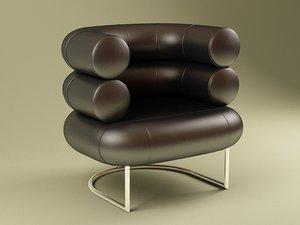 english club easy chair 3ds