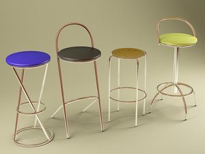 3d model of chairs tequila bitter cerry