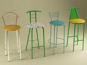 chairs tina marko katty 3d 3ds