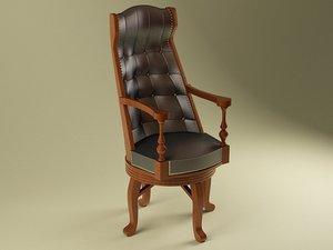 3d armchair oxford