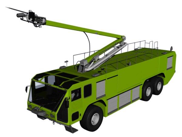 striker truck firetruck 3d model