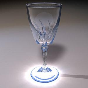 3d liqueur glass