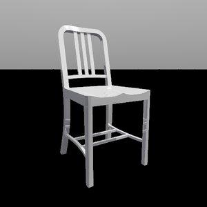 navy chair 3d model