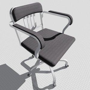navy armchair 3d 3ds