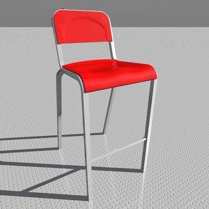 1951 barstool chair 3d model