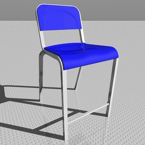 3d 1951 stool chair model
