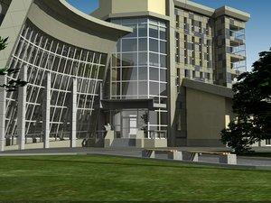 3dsmax exhibition building