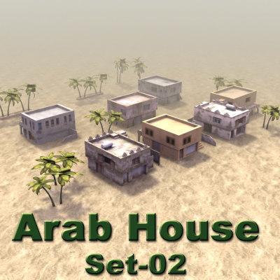 arab house set02 buildings 3d model
