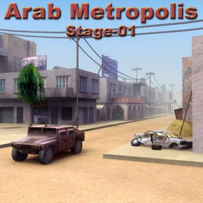 lightwave arab city construction buildings