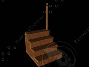 3d wooden steps library