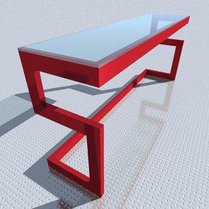 3d model table s1