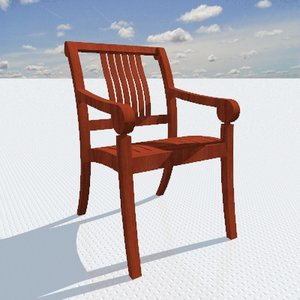 cardiff chair 3d 3ds