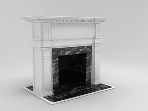 3d model place fireplace