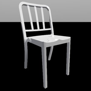 3d model heritage stacking chair