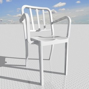 heritage stacking armchair 3d model