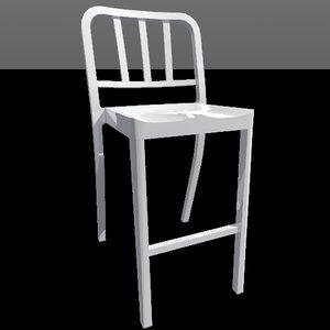heritage stool 3d model