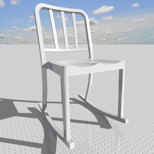 heritage rocking chair 3d model