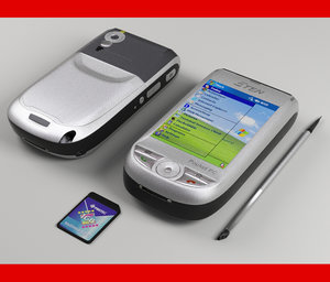 pocket pc e-ten m500 3d model