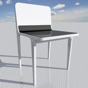 3d chair designed interior