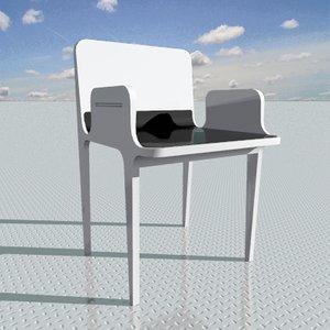 armchair designed interior 3d 3ds