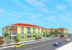 3d site apartment building house