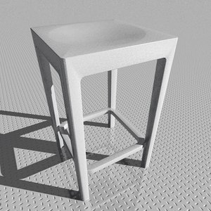 stool designed starck 3d model