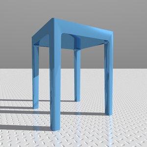 dwg table designed starck
