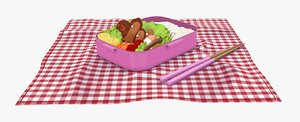japanese school lunchbox model
