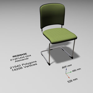 3d cantilever chair model