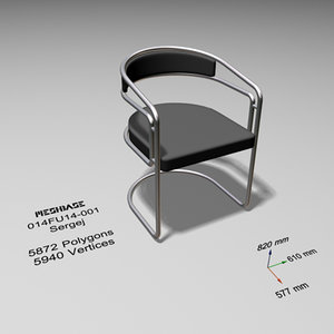 3d cantilever chair -